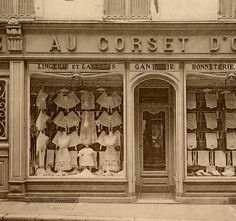 Fantastic Vintage French Corset Store Photo