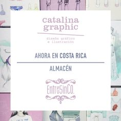 Ahora en #CostaRica  PRODUCTOS CATALINA GRAPHIC disponibles en @entre5inco ✨ #fashion #illustrated #notebooks and #mugs