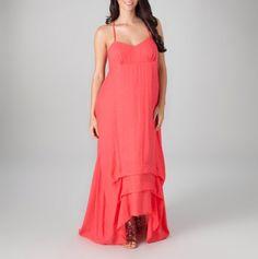 Hi Low Racerback Maxi Dress