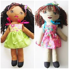 Custom Girl  Doll  from a photo  The Sisters by Meoneil on Etsy