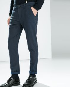 ZARA - MAN - SEAMED TROUSERS WITH SUSPENDERS