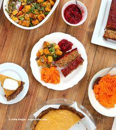 Vegan Lentil Quinoa Loaf with Spicy Glaze | VeganRicha.com #vegan #holiday #lentilloaf