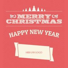 Kerstkaarten en nieuwjaarskaarten van Santhos! Happy New Year, Logos, Holiday, Cards, Design, Vacations, Logo, Holidays