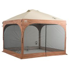 Coleman 10x10 Instant Canopy with screens {ours is navy blue, and we have the rain walls too- LOVE this thing!!}