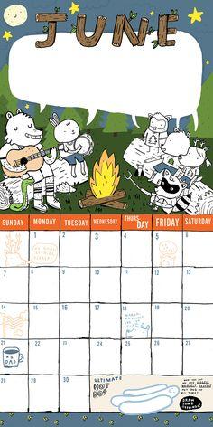 a calendar for Workman Publishing.