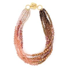 Peach Julep Necklace | Fusion Beads Inspiration Gallery. LOVE. Do with pearls I have?