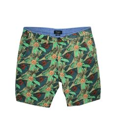 Paul Smith Jeans Paul Smith Floral Twill Green Multi Shorts