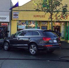 Christian's Audi parked outside Clayton's hardware store.  #fiftyshadesofgrey #movie