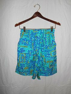 vintage 80s 90s shorts swim     womens women by ATELIERVINTAGESHOP, $30.00