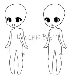 Little Chibi Adoptable Base (UPDATED) by ribbon-adopts