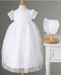 One Size White Lauren Madison Baby-Girls MI Bautizo Bib