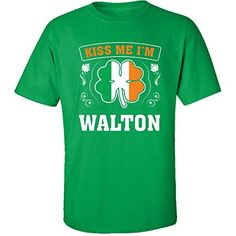 Kiss Me Im Walton And Irish St Patricks Day Gift  Adult Shirt 2xl Irishgreen *** Click the VISIT button to enter the Amazon website