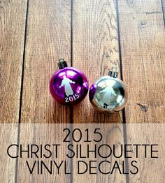 Christ Ornament Vinyl Decals: Packs of 20