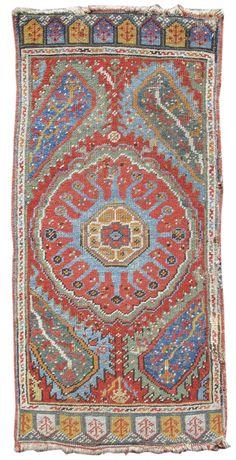 Turkish Ushak Yastik, early 19th C.