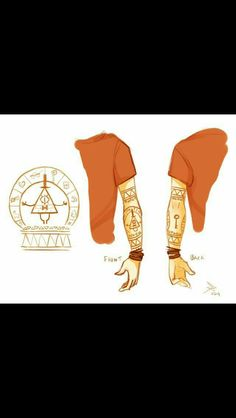 Yes please, I want this as a tattoo, imma geek when it come to Bill Cipher or Gravity Falls! I'd put this tattoo on my right arm! Gravity Falls Dipper, Gravity Falls Fan Art, Gravity Falls Bill, Gravity Falls Cosplay, Gravity Falls Journal, Dipper Y Mabel, Dipper Pines, Bill X Dipper, Big Dipper