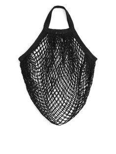 Front image of Arket turtle bags string bag in black