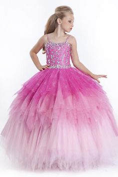 For the Party Time - Perfect Angels spaghetti sequins tiered ruched formal occasion ball gowns flower girls pageant dresses Pagent Dresses, Little Girl Pageant Dresses, Gowns For Girls, Girls Party Dress, Wedding Party Dresses, Girls Dresses, Dresses 2016, Flower Girl Gown, Flower Girls