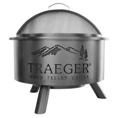 Traeger Outdoor 26 in. Wood Burning Fire Pit with Grill Grate - OFP001