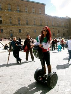 Segways through Florence, Italy @ (Pitti Palace)
