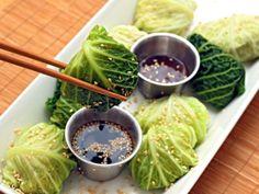 Steamed Asian Chicken Cabbage rolls