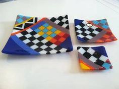 Checkered Plate Set - Delphi Stained Glass