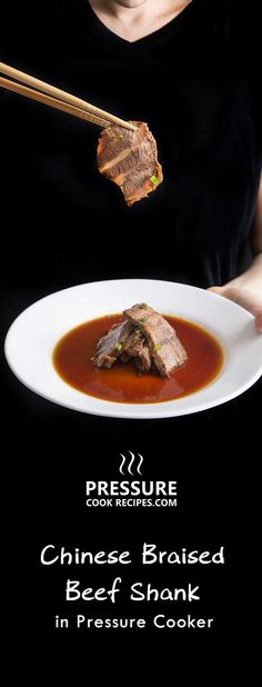 Make Pressure Cooker Chinese Braised Beef Shank Recipe with Chinese Master Stock 滷水汁. Flavorful