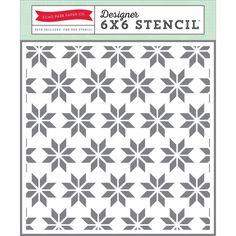 Echo Park ROCKS 6x6 Stencil Scrapbook Gift Tags Planner Home Decor DF102034