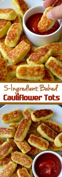 5 Ingredient Baked Cauliflower Tots