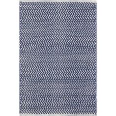 Shop Wayfair for Dash and Albert Rugs Herringbone Indigo Blue Geometric Area Rug - Great Deals on all Decor products with the best selection to choose from!