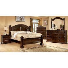 Burleigh Traditional Elegant Style Cherry Finish 6-Piece Bedroom Set