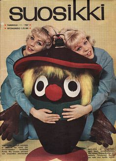 Suosikki In the cover: Anja, Anneli & Ohimennen-mascot Bumble Bee. Cool Pictures, Funny Pictures, Old Commercials, Good Old Times, Funny Times, Pictures Online, Old Magazines, Funny Bunnies, Finland