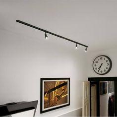 Set binary single-phase pure lamp led attack in aluminium color Rail Plafond, Flur Design, Track Lighting Kits, K Om, Interior Design Advice, Starter Set, Light Beam, Reno, Home Remodeling