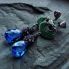 In the garden of secrets  exclusive silver earrings with