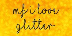 Mf I Love Glitter Font · 1001 Fonts