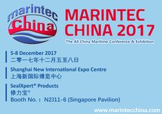 We are exhibiting! Visit us at MARINTEC CHINA 2017  5-8 December 2017 Shanghai New International Expo Centre Booth No. N2J11-6 (Singapore Pavilion) Avoid queuing onsite and pre-register online for a hassle-free visit. Visitor Pre-registration: http://www.marintecchina.com/en-us/Visitors/Registration Opening Hours: 5 December: 10:30 am – 5:30 pm 6 - 7 December: 9:30am – 5:30 pm 8 December: 9:30am – 4:00 pm