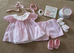 Bitty Baby Pleasant Company Happy Birthday set outfit pink dress clothing doll #PleasantCompany #ClothingShoes