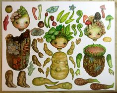 Jointed Woodland Children Paper Dolls , inspiration