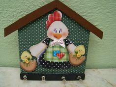 portallaves en country - Buscar con Google Small Woodworking Projects, Diy Pallet Projects, Farm Crafts, Diy Crafts, Painted Spoons, Wooden Cutouts, Chicken Art, Country Paintings, Down On The Farm