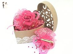 """""""Rose"""" Baby-Girls Bow Hair Clip Accessories, Barrettes ( Pack of 2) - Bridal fashion accessories (*Amazon Partner-Link)"""