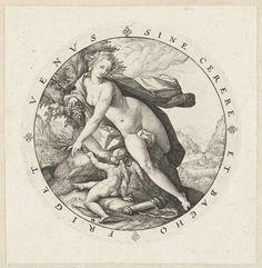 Venus en Cupido, Hendrick Goltzius, Agostino Carracci, 1588 - 1592