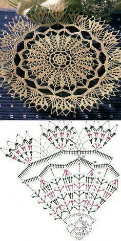 Crochet Leaves, Crochet Circles, Crochet Flowers, Crochet Placemats, Crochet Table Runner, Crochet Mandala Pattern, Crochet Patterns, Filet Crochet, Knit Crochet