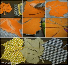 52 Mantels: No-Sew Fall Leaves Table Runner + 10 Thanksgiving Table Ideas