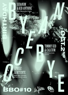 Paris designer Jimbo Barbu creates cool experimental posters for club nights and exhibitions | Pulse Report Blog