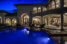 Beautiful shot of this home at night with the pool! Visit my website to see more: http://www.debrajanes.com/215-Majestic-Ridge-a293264.html