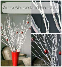 Winter Wonderland Branches Tutorial - Pleats and Ruffles