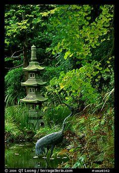 Stupa, Japanese Garden, Golden Gate Park. San Francisco, California, USA Amazing Gardens, Beautiful Gardens, Formal Gardens, Zen Gardens, Japanese Gardens, The Pleasure Garden, Hidden Garden, Asian Garden, Japanese Garden Design