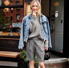 a pre-fall shorts and denim jacket moment