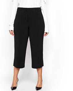 dcb7f33274b56 Michel Studio Wide Leg Crop Pant