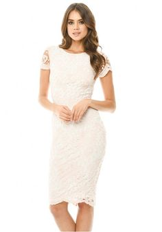 d8c02eeac3b Shop a great selection of AxParis AX Paris Women s Lace Insert Midi Dress.  Find new offer and Similar products for AxParis AX Paris Women s Lace  Insert Midi ...