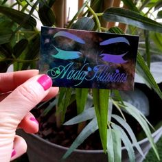 Holographic foil business cards that we designed and printed for ✨🦄✨We want you all to have only the fanciest marketing materials! DM us to get started. Foil Business Cards, Holographic Foil, Marketing Materials, Cosmetology, Business Ideas, Illusions, Unicorn, Rainbow, Fancy